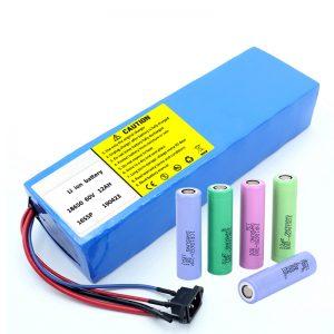 Литий батареясы 18650 60V 12AH литий-ионды қайта зарядталатын скутер батареясы