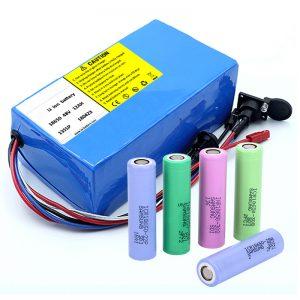 Литий батареясы 18650 48V 12AH 48V 500W BMS бар электрлік велосипед аккумуляторы