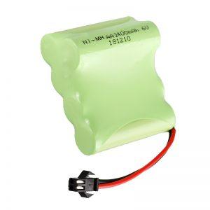 NiMH қайта зарядталатын батарея AA2400 6V қайта зарядталатын электрлік ойыншықтар Батарея жиынтығы