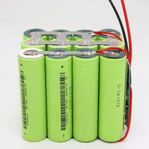 Электр құралы үшін көтерме күйге келтірілген 18650 литий 4s3p су өткізбейтін ПХД тақтасы 12v 10AH терең цикл