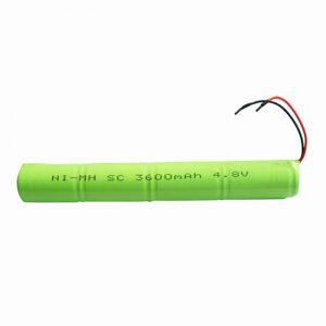 NiMH қайта зарядталатын батарея SC 3600mAH 4.8V